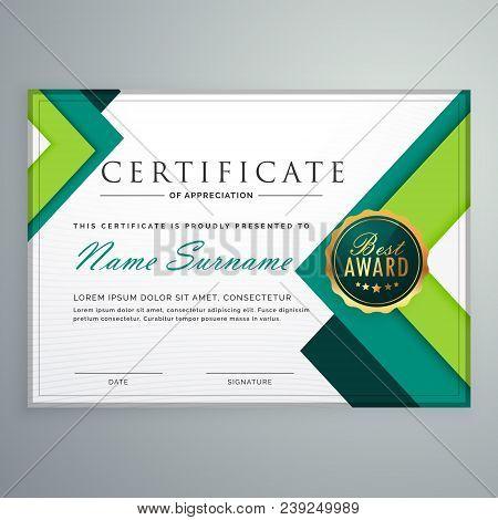 Modern Geometric Shape Certificate Vector Design Template