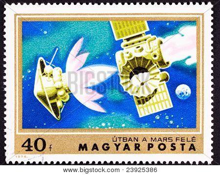 Sello Marte sonda encuadernado cohete separación