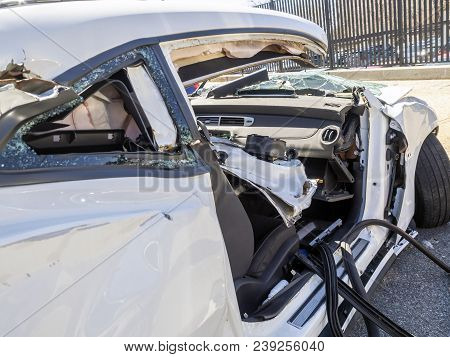 Car Get Damaged By An Accident On The Road