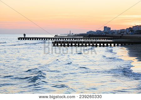Beach At Dawn, Piers Perspective View