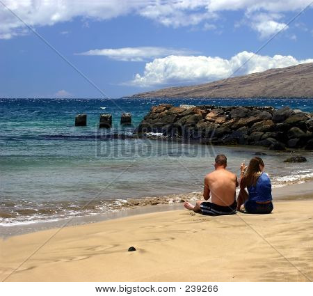 Sitting On The Beach In Kihei, Hawaii