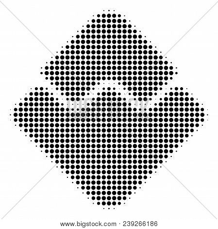Pixelated Black Waves Currency Icon. Vector Halftone Composition Of Waves Currency Icon Formed With