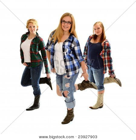 Country Line Dancing Girls