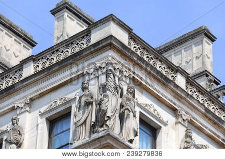 Foreign And Commonwealth Office, Detail Of Facade, London, United Kingdom