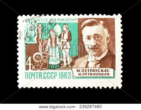 Soviet Union - Circa 1963 : Cancelled Postage Stamp Printed By Soviet Union, That Shows Portrait Of