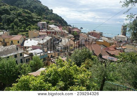 Monterosso, Italy - (may 2, 2018) A Beautiful Coastal Town In Cinque Terre, Commonly Visited By Tour