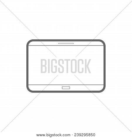 Tablet Computer. Pda Symbol. Vector Flat Icon.
