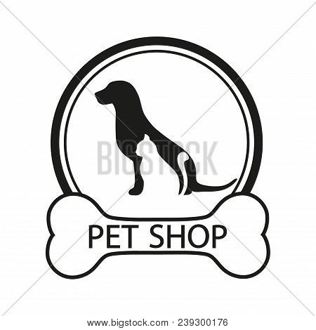Logo For Pet Shop, Veterinary Clinic, Animal Shelter, Designed In A Modern Style Lines.  Logo Desig