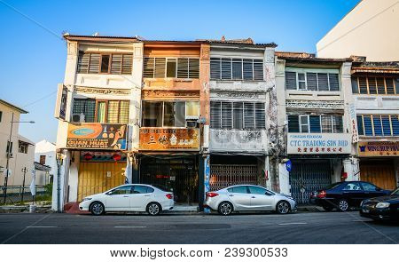 Old Buildings In Penang, Malaysia
