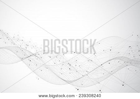 Big Data Visualization. Graphic Abstract Background Communication. Perspective Backdrop Visualizatio