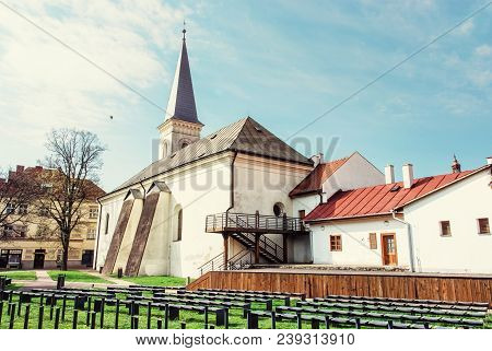 Calvinist Church In Kosice, Slovak Republic. Religious Architecture. Travel Destination. Beauty Phot
