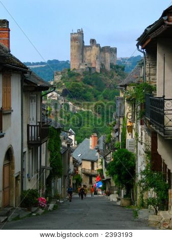View of an old castle in top of a