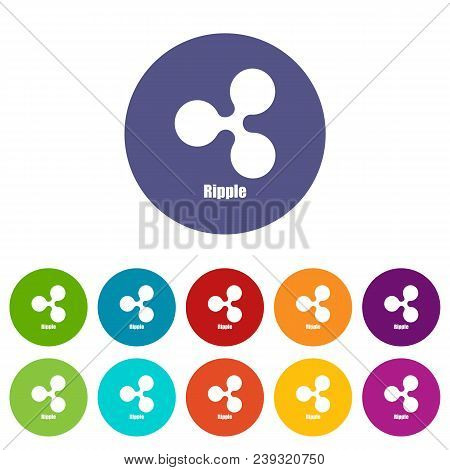 Ripple Icon. Simple Illustration Of Ripple Vector Icon For Web