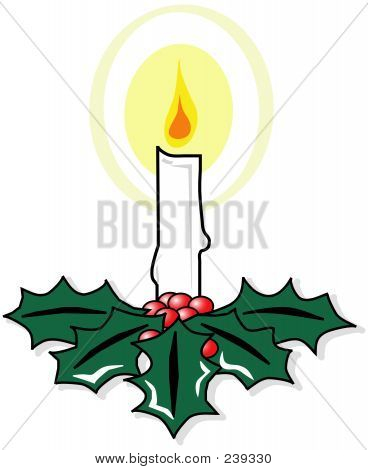 Christmas Candle L
