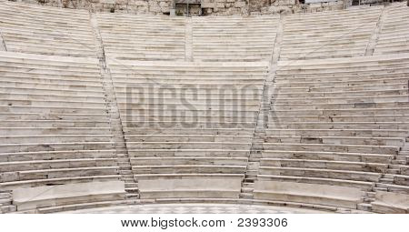 Ancient Theater Rows Of Seats