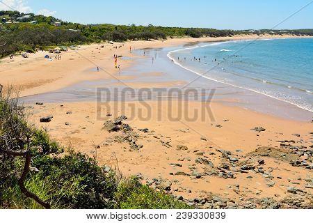Main Beach In Agnes Water, Queensland, Australia.