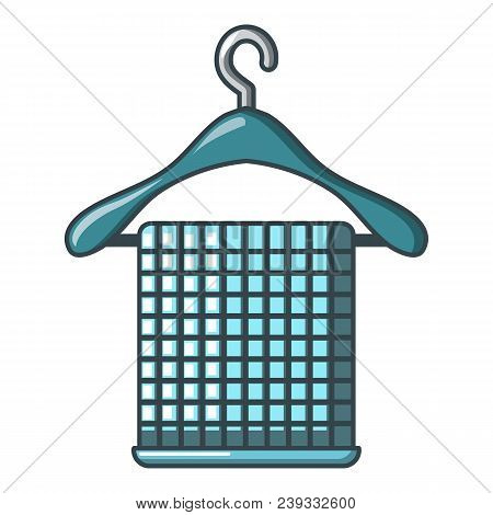 Folded Towel On Hanger Icon. Cartoon Of Folded Towel On Hanger Vector Icon For Web Design Isolated O