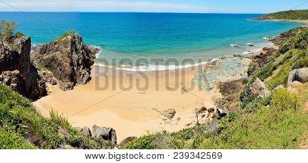 View Of Workman Beach In Agnes Water, Queensland, Australia.