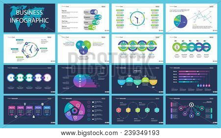 Business Inforgraphic Design Set For Management Concept. Can Be Used For Business Project, Annual Re