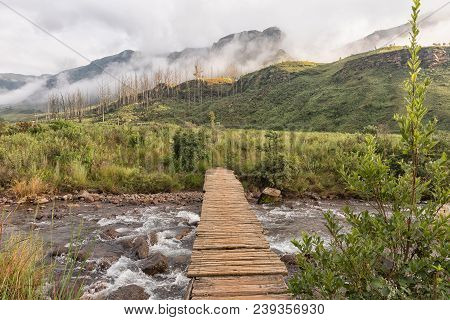 A Pedestrian Bridge Over A Stream At The Start Of The Van Heiningen Pass Hiking Trail At Injisuthi I