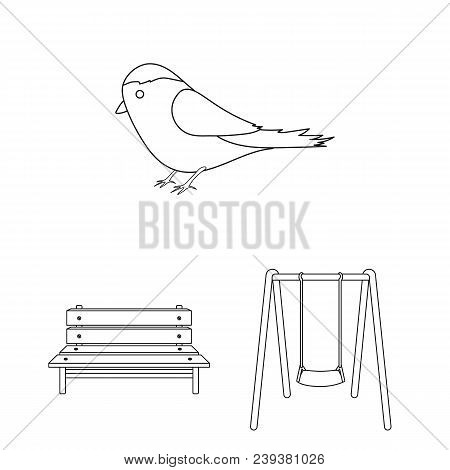 Park, Equipment Outline Icons In Set Collection For Design. Walking And Rest Vector Symbol Stock  Il
