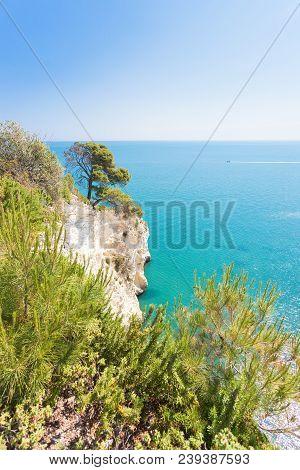 Grotta Della Campana Piccola, Apulia, Italy - Mediterranean Coastline At Its Best