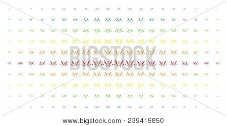 Fireworks Explosion Icon Spectrum Halftone Pattern. Vector Fireworks Explosion Items Are Organized I
