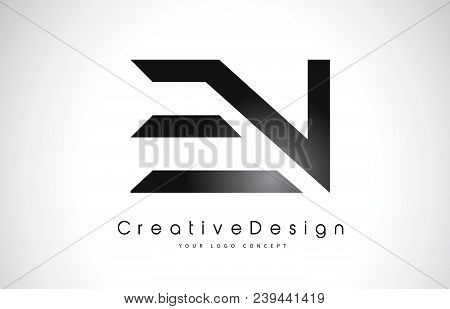 En E N Letter Logo Design In Black Colors. Creative Modern Letters Vector Icon Logo Illustration.