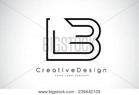 Lb L B Letter Logo Design In Black Colors. Creative Modern Letters Vector Icon Logo Illustration.