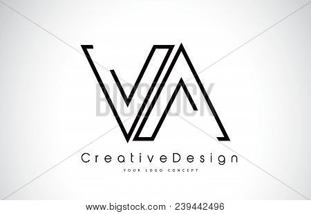 Va V A Letter Logo Design In Black Colors. Creative Modern Letters Vector Icon Logo Illustration.