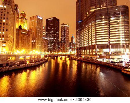 Chicago Night State Street