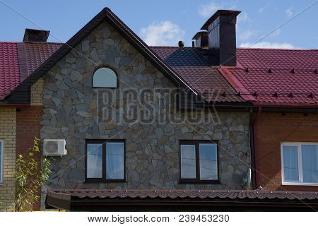 Luxury Home Exterior At Twilight Exterior Roof,