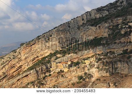 Hamatoura Is A Monastery Which The Monks Built In Rocky Mountains To Evade The Persecution Of The Ot