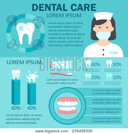 Dental Care Infographic Set With Factors Provoking Teeth Diseases Dentist Denture Statistics Of Ultr