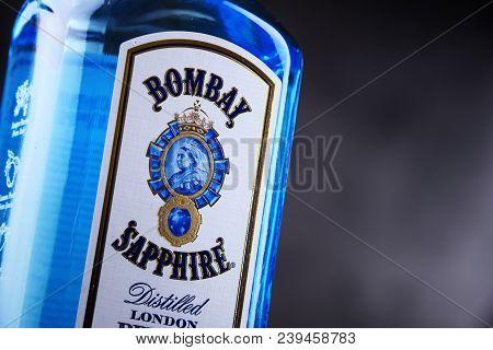 Bottle Of Bombay Sapphire Gin