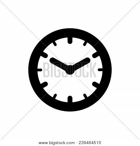 Wall Clock Icon Vector In Modern Flat Style For Web, Graphic And Mobile Design. Wall Clock Icon Vect