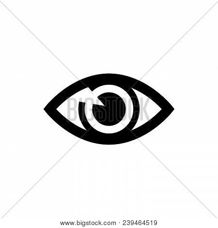 Eye Icon Vector In Modern Flat Style For Web, Graphic And Mobile Design. Eye Icon Vector Isolated On