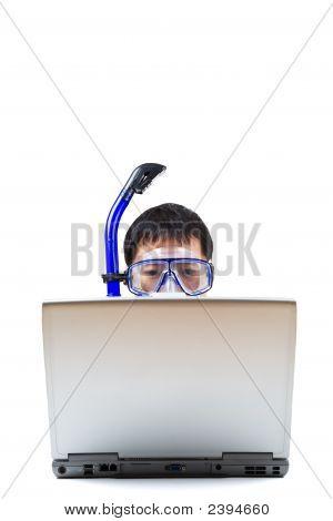 Snorkeling Businessman