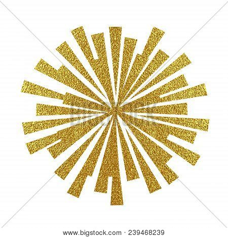Explosion Vector Illustration. Rays Element. Sunburst, Starburst Shape On White. Radial Lines. Abstr