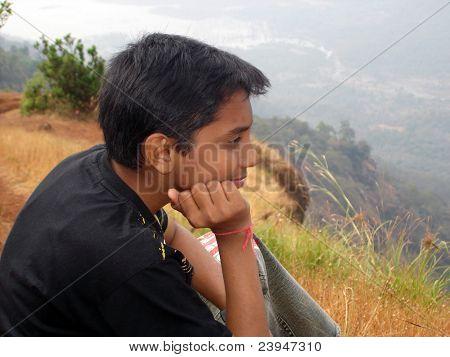 Boy Enjoying Nature