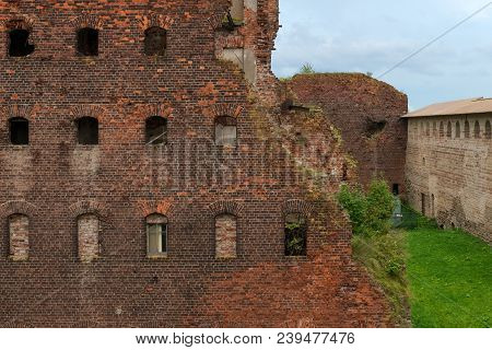 Shlisselburg, Saint Petersburg, Russia - August 21, 2017: The Views Of  Wardens And Prison Housing 1