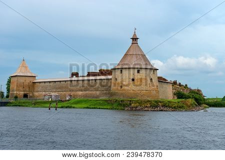 The Golovkina Tower Of The Fortress Of Oreshek. Fortress In The Source Of The Neva River, Russia, Sh