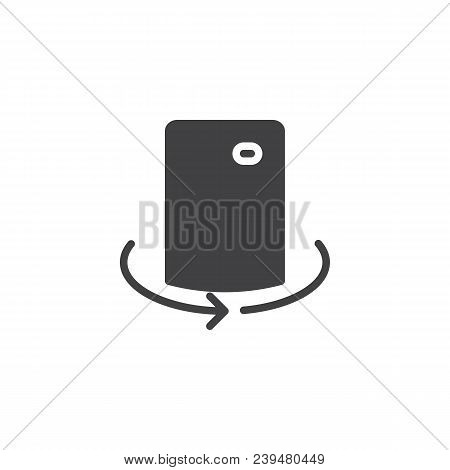 Mobile Camera Rotate Vector Icon. Filled Flat Sign For Mobile Concept And Web Design. Cell Phone 360