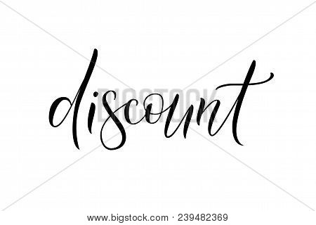 Vector Illustration Eps 10 Of Calligraphy, Logotype, Text As Banner, Quotation, Detail, Concept Of I