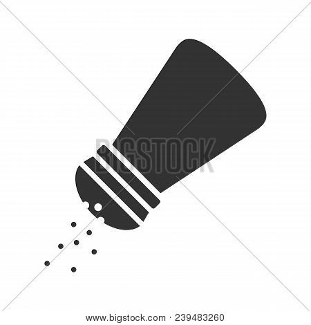 Salt Or Pepper Shaker Glyph Icon. Silhouette Symbol. Spice. Negative Space. Vector Isolated Illustra
