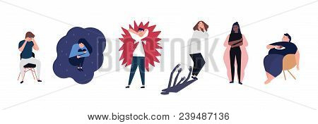 Collection Of Men And Women With Mental Disorders, Illnesses, Impairments, Psychiatric Or Psychologi