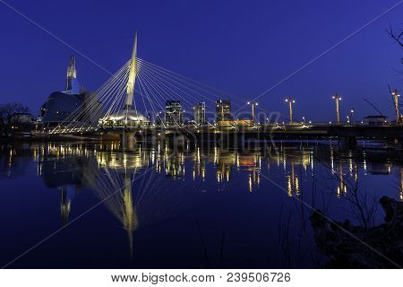 The Esplanade Riel In The Early Morning Blue Hour