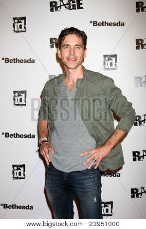 LOS ANGELES - SEPT 30:  Brian Dietzen arriving at  the RAGE Game Launch at the Chinatown's Historical Central Plaza on September 30, 2011 in Los Angeles, CA