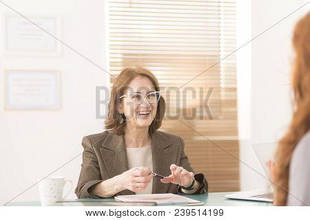 Smiling Profesional Advisor