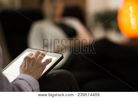 Hand Writing On Tablet